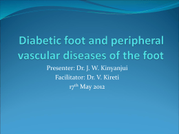 Diabetic foot and peripheral diseases of the foot