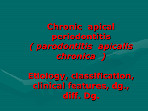 Chronic apical periodontitis