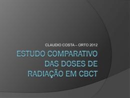Estudo comparativo das doses de radiação em cbct