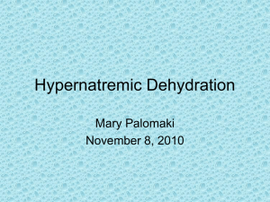 Hypernatremic Dehydration
