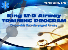 King LT-D Airway Training Program