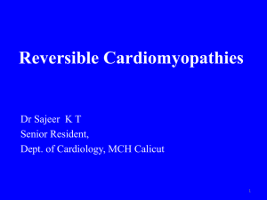 Reversible Cardiomyopathies - The department of cardiology