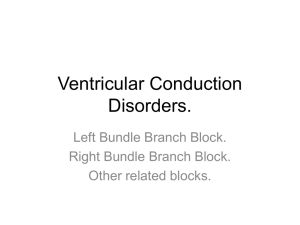 Ventricular Conduction Disorders.