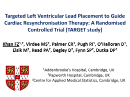 Targeted Left Ventricular Lead Placement to Guide Cardiac