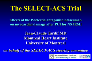 The SELECT-ACS Trial Effects of the P