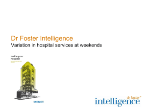 Variation in Hospital Services at Weekends-Roger