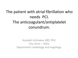 Atrial Fibrillation (Management of) 2010 and Focused Update (2012)