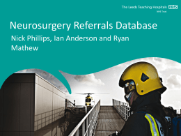 Neurosurgery Inter-Hospital Referrals