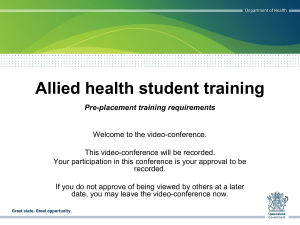 AHPOQ Introduction to training requirements presentation