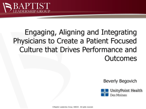 Engaging Your Physicians 6.7.13