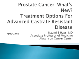 Prostate Cancer: Diagnosis and Treatment
