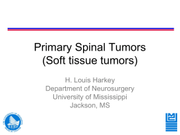 Primary spine tumors