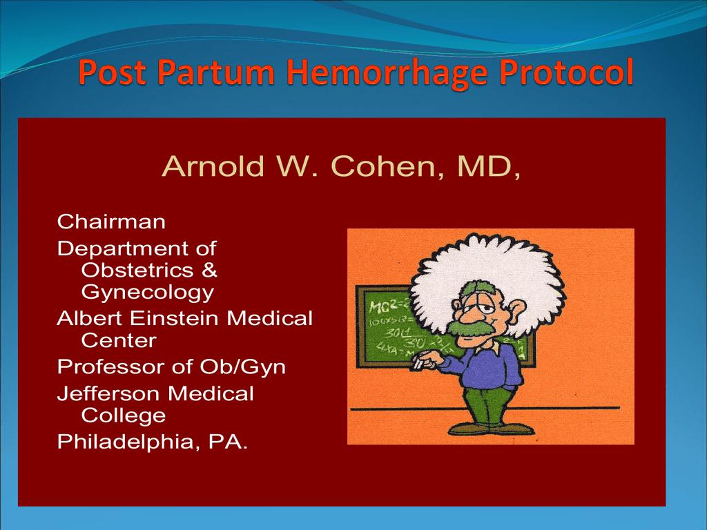 the Post Partum Hemorrhage PowerPoint