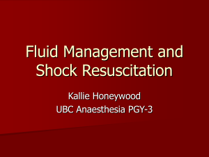Fluid Management and Shock Resuscitation