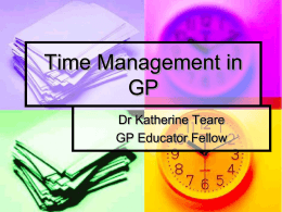 Time Management in GP