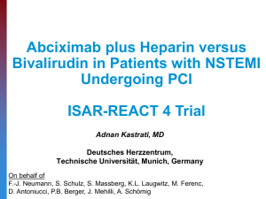 Objective of ISAR-REACT 4 trial
