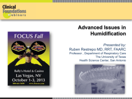 Advanced Issues in Humidification