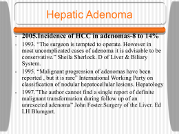 Blendis L.Hepatic Adenoma