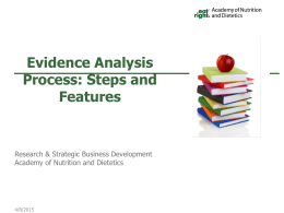 Academy`s Evidence Analysis Process