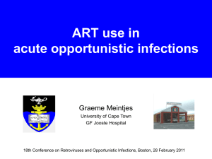 ART use in Acute Opportunistic Infections