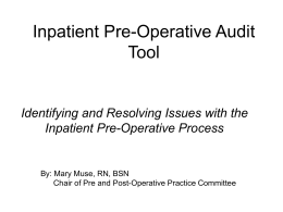 SE1-C - Pre-operative Readiness Presentation