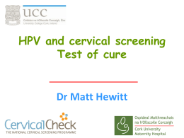 Dr Hewitts lecture on HPV and colposcopy Oct 2014