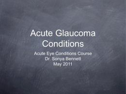 Acute Eye Conditions Course