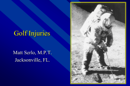 Golf Injuries - Five Star Physical Therapy