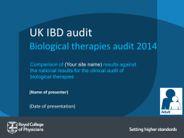 Adult biological therapy audit presentation