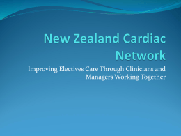 Improving electives care through clinicians and managers working