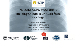 COPD`s story - buliding QI into your audit from the start