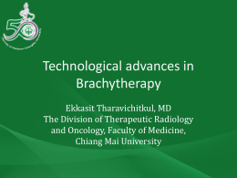 Research developments in brachytherapy