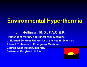 Environmental Hyperthermia - International Federation for