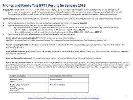 January 2015 Friends and Family Test Report