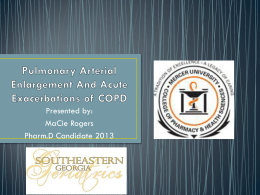 Pulmonary Arterial Enlargement And Acute Exacerbations of COPD