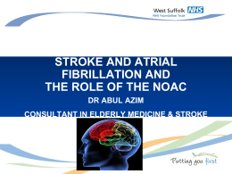 Stroke and AF - NHS West Suffolk Clinical Commissioning Group