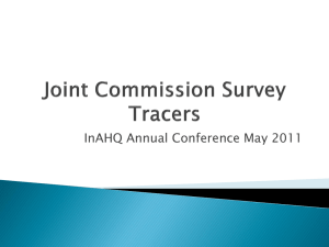 Joint Commission Survey Tracers