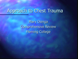 Airway and Chest Trauma