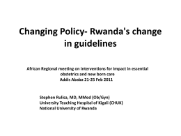 Rwanda`s change in guidelines, Stephen Rulisa