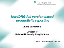 NordDRG Full version based productivity
