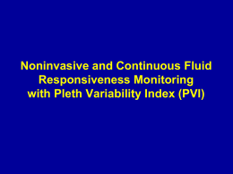Noninvasive and Continuous Fluid Responsiveness