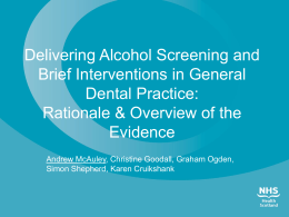 Delivering Alcohol Screening and Brief Interventions in General