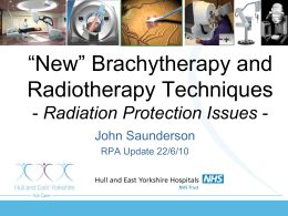 New Radiation Protection Issues in Radiotherapy