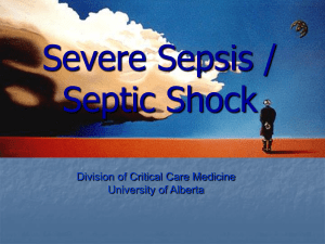 Pneumonia and septic shock - Division of Critical Care