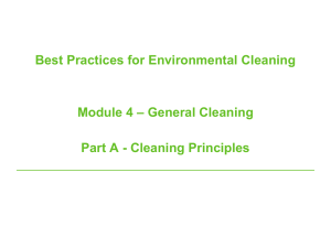 Cleaning principles - Public Health Ontario