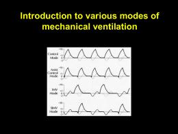 Various ventilator modes