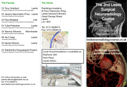 Leeds 1st Surgical Neuroradiology course