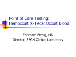 Fecal Occult Blood Testing