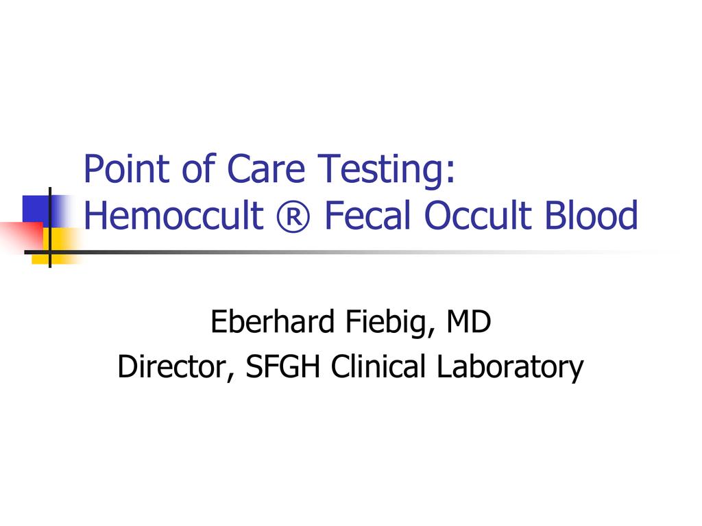 Fecal Occult Blood Testing