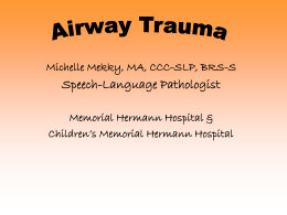 Airway trauma